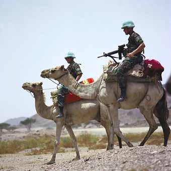UN soldiers in Eritrea by Dawit Rezené World 66 Wikimédia commons